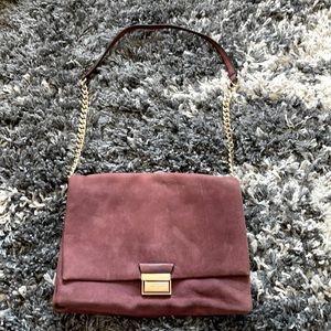 Kate spade multipocket suede shoulder purse